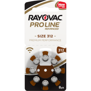 Rayovac Rayovac 312 Proline Advanced Premium Performance (8 pack) - 1 pack / 8 batteries