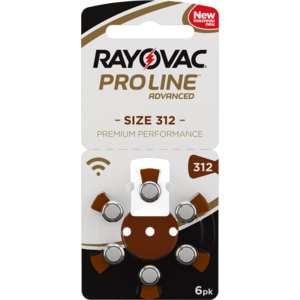Rayovac Rayovac 312 ProLine Advanced (Premium Performance) Zinc-Air – 1 pack