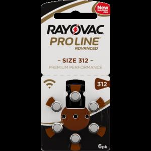 Rayovac Rayovac 312 ProLine Advanced (Premium Performance) Zinc-Air – 20 packs
