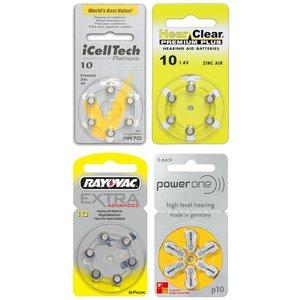 10 Gelb Probierpaket 4 Päckchen verschiedener Marken