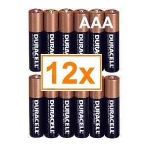 Duracell Duracel Alkaline AAA Potlood (LR3) - 1 pakje (12 batterijen)
