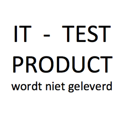 Dummy Artikel - btw hoog - voor IT test - wordt niet verzonden