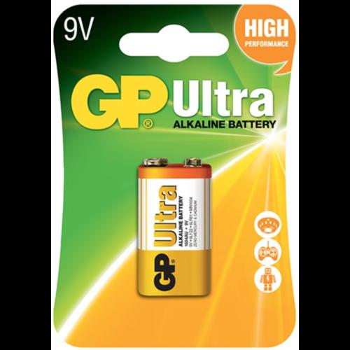 GP GP Alkaline Ultra 9V block (6LR61) Blister 1