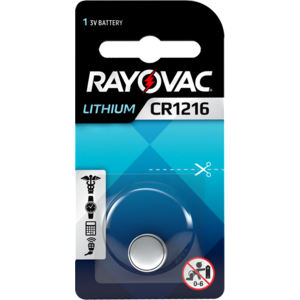 Rayovac Rayovac Lithium CR1216 3V Knopfzelle Blister 1 - 1 Packung