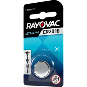 Rayovac Rayovac Lithium CR2016 3V button cell Blister 1 - 1 pack