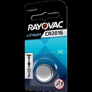 Rayovac Rayovac Lithium CR2016 3V knoopcel  - 1 pakje