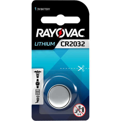 Rayovac Rayovac Lithium CR2032 3V Knopfzelle Blister 1 - 1 Packung