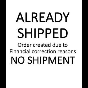 Already Shipped - No Shipment - created for fin. correction reasons