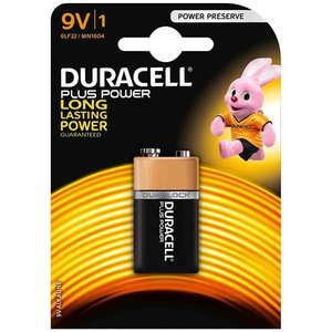 Duracell Duracell Alkaline 9V Plus Power Duralock MN1604