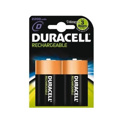 Duracell Duracell D 2200mAh rechargeable (HR20) - 1 pack (2 batteries)