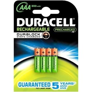 Duracell Duracell AAA 800mAh rechargeable (HR03) - 1 pack (4 batteries)