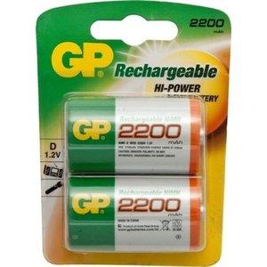 GP GP D 2200mAh rechargeable (HR20) - 1 pakje (2 batterijen)
