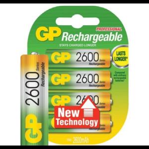 GP GP AA 2600mAh rechargeable (HR6) - 1 pakje (4 batterijen)