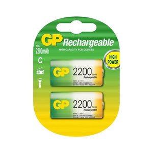 GP GP C 2200mAh rechargeable (HR14) - 1 Packung (2 Batterien)