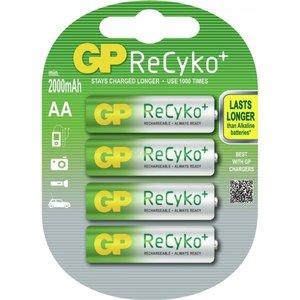 GP GP AA 2000mAh ReCyko+ (rechargeable) (HR6) - 1 Packung (4 Batterien)