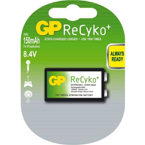 GP GP 9V (8.4V) 150mAh ReCyko+ (rechargeable) - 1 pack (1 battery)