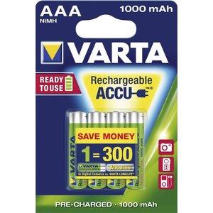 Varta Varta AAA 1000mAh rechargeable (HR03) - 1 pakje (4 batterijen)