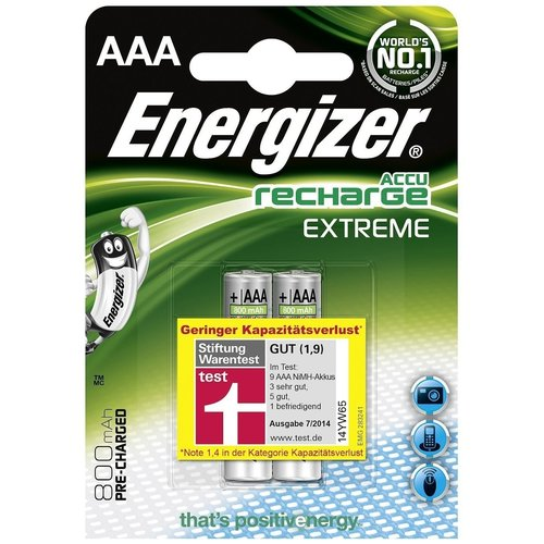 Energizer Energizer Recharge Extreme AAA 800mAh (HR03) - 1 pack (2 batteries)