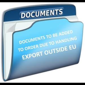 Interne info voor onze verzendafdeling - voeg exportdocumenten toe