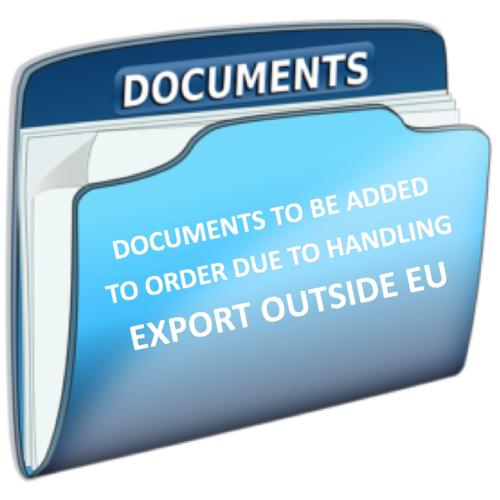Internal info for our shipping department - add export documents