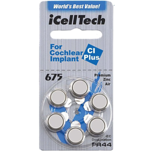 iCellTech iCellTech 675 CI Plus for Cochlear Implant - 1 pack