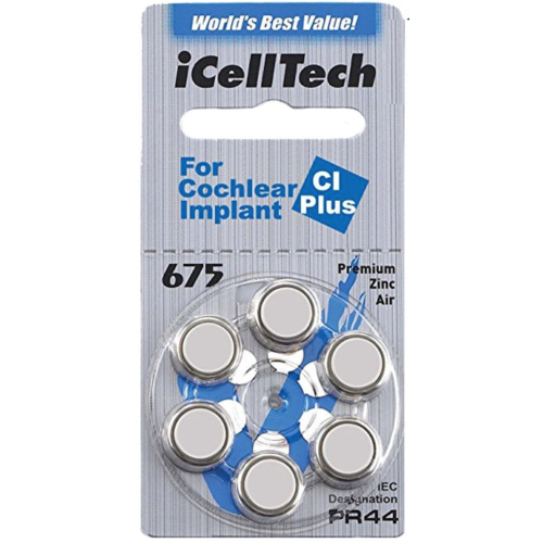 iCellTech iCellTech 675 CI Plus voor Cochlear Implant - 1 pakje
