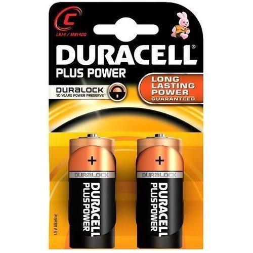 Duracell Duracell Alkaline Plus Power Duralock C Baby LR14 - 1 pakje (2 batterijen)