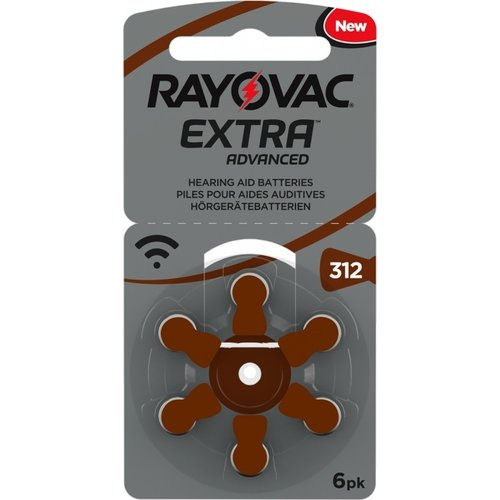 Rayovac Rayovac 312 Extra Advanced – 5 packs + 1 Free (36 Batteries)