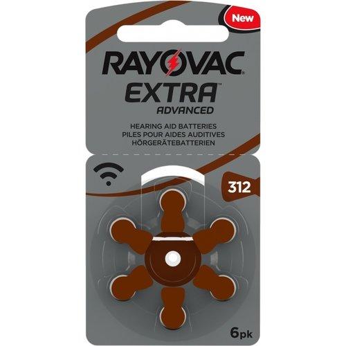 Rayovac Rayovac 312 Extra Advanced - 15 pakjes + 3 gratis (108 batterijen)
