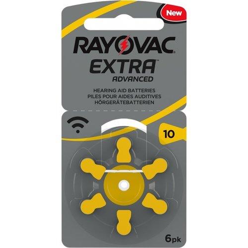 Rayovac Rayovac 10 Extra Advanced - 5 Päckchen + 1 kostenlos (36 Batterien)