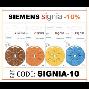 Signia SIEMENS Angebot -10% EXTRA auf Signia mit dem Code 'SIGNIA-010'