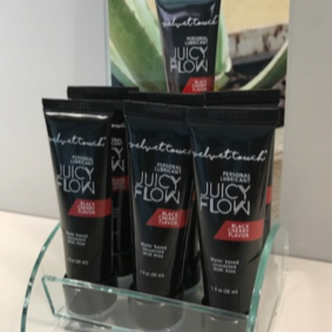 Velvet Touch Juicy Flow counter top stand - Toonbank display voor 6 tubes