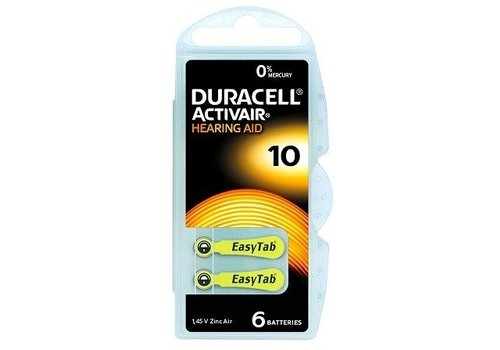 Duracell Duracell 10 Activair EasyTab - 10 blisters