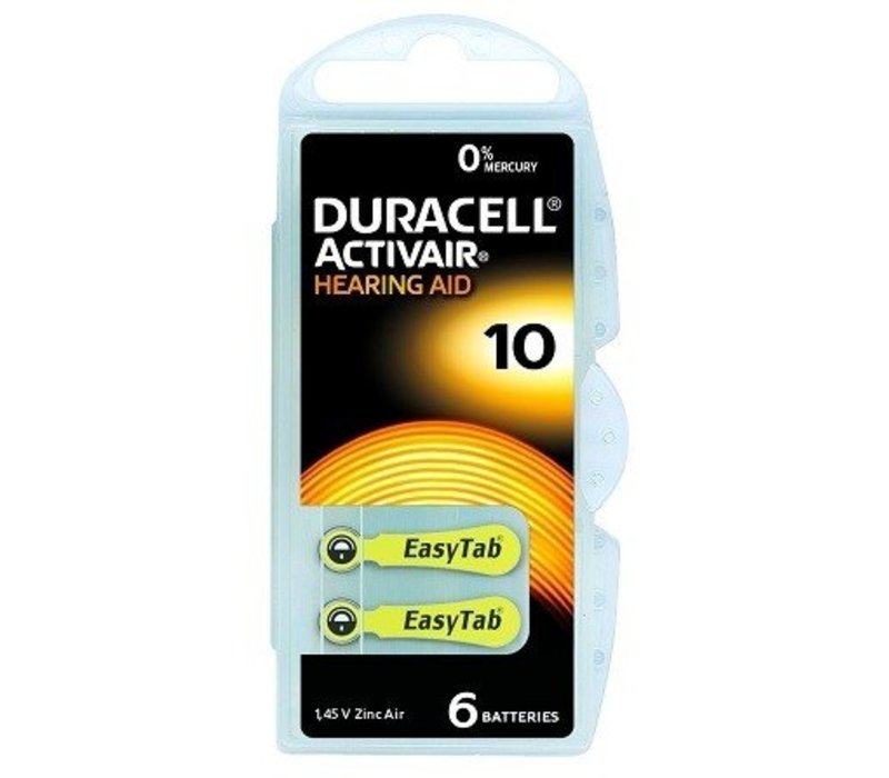 Duracell 10 (PR70) Activair EasyTab - 20 blisters (120 batteries)