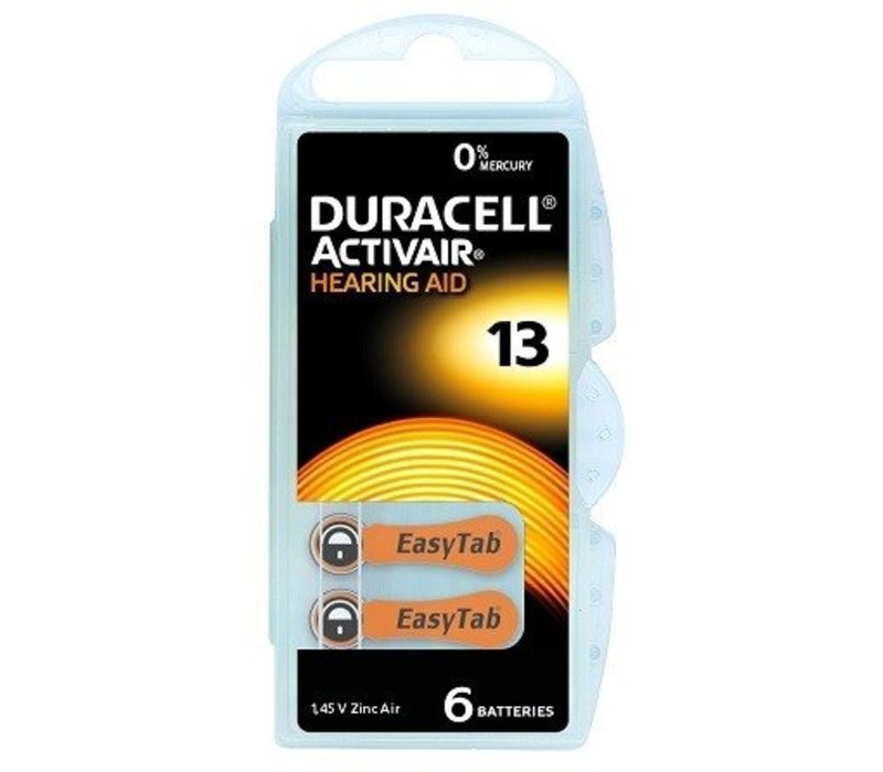Duracell 13 (PR48) Activair EasyTab - 1 pakje (6 batterijen)
