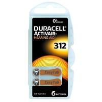 Duracell 312 (PR41) Activair EasyTab – 1 blister (6 batteries)