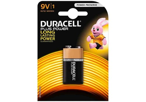 Duracell Duracell Alcaline 9V Plus Power Duralock MN1604