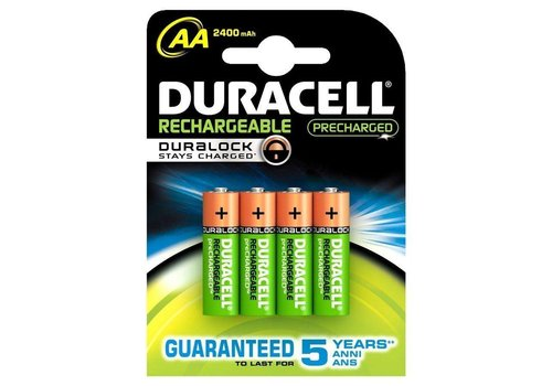 Duracell Duracell AA 2400mAh rechargeable (HR6) - 1 pack (4 batteries)