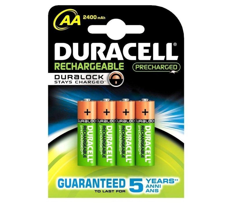 Duracell AA 2400mAh rechargeable (HR6) - 1 pack (4 batteries)