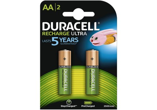 Duracell Duracell AA 2500mAh rechargeable (HR6) - 1 pack (2 batteries)