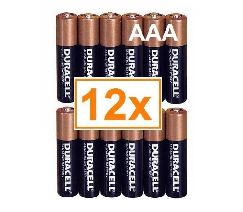 Duracell Alkaline AAA Micro (LR3) - 1 pack (12 batteries)