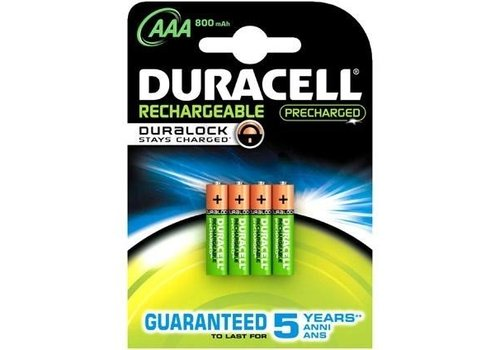 Duracell Duracell AAA 800mAh rechargeable (HR03) - 1 collis (4 piles)