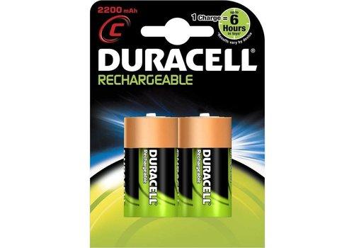 Duracell Duracell C 2200mAh rechargeable (HR14) - 1 pack (2 batteries)