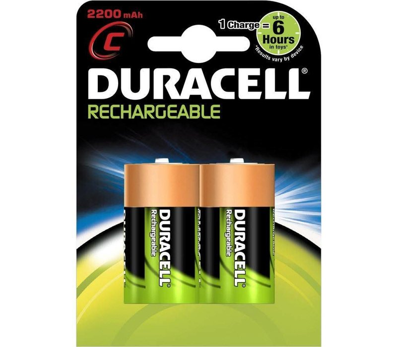 Duracell C 2200mAh rechargeable (HR14) - 1 pack (2 batteries)