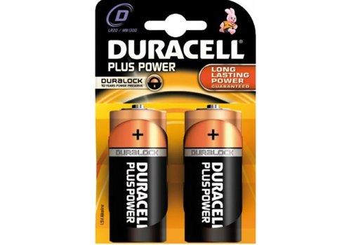 Duracell Duracell Alcaline Plus Power Duralock D Mono (LR20) - 1 collis (2 piles)