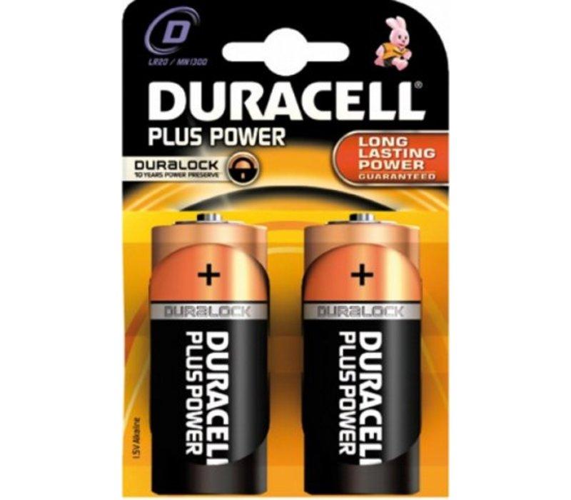 Duracell Alkaline Plus Power Duralock D Mono (LR20) - 1 pack (2 batteries)