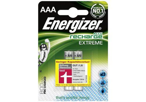 Energizer Energizer Recharge Extreme AAA 800mAh (HR03) - 1 collis (2 piles)