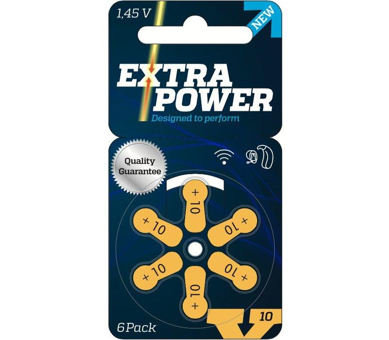 Extra Power 10 (PR70) - 1 pakje (6 batterijen) **SUPER AANBIEDING**