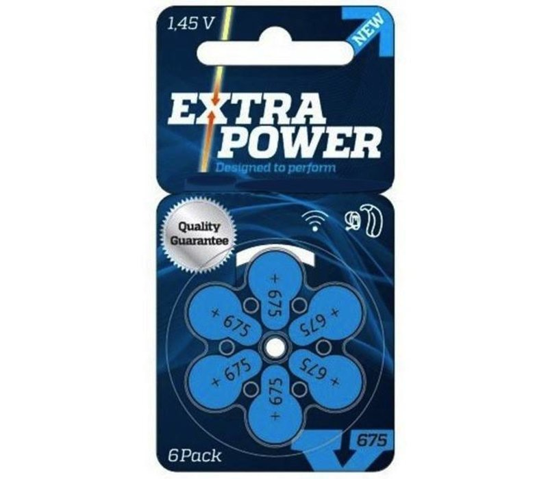 Extra Power 675 (PR44) - 1 colis (6 piles) **OFFRE SPÉCIALE**