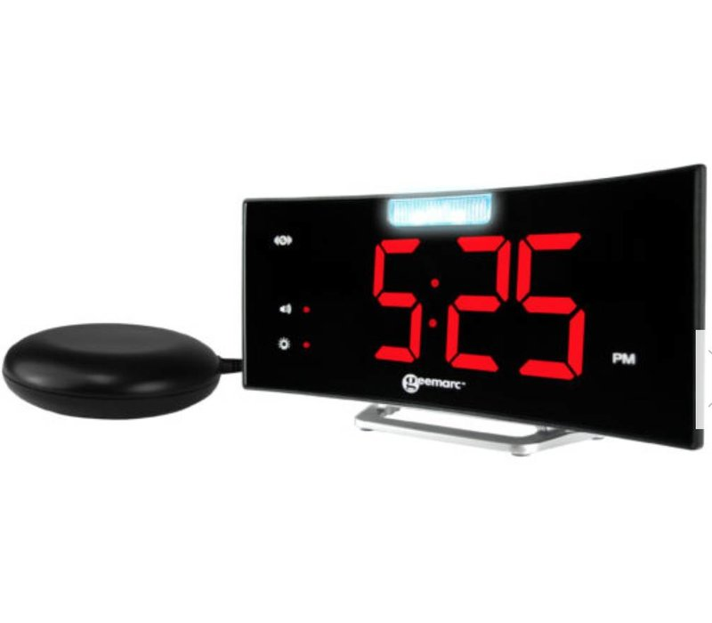 Geemarc alarm clock Wake'n'Shake Voyager with vibrating pad, LED (flash) lamp and USB port
